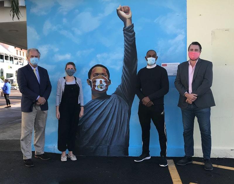 Peaceful Art Protest Mural Bermuda Jan 2021 8