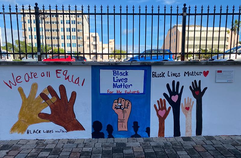 Peaceful Art Protest Mural Bermuda Jan 2021 9