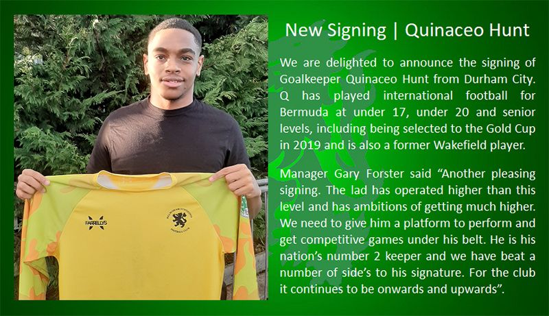 Quinaceo Hunt Signs With Billingham Synthonia Bermuda Dec 2020