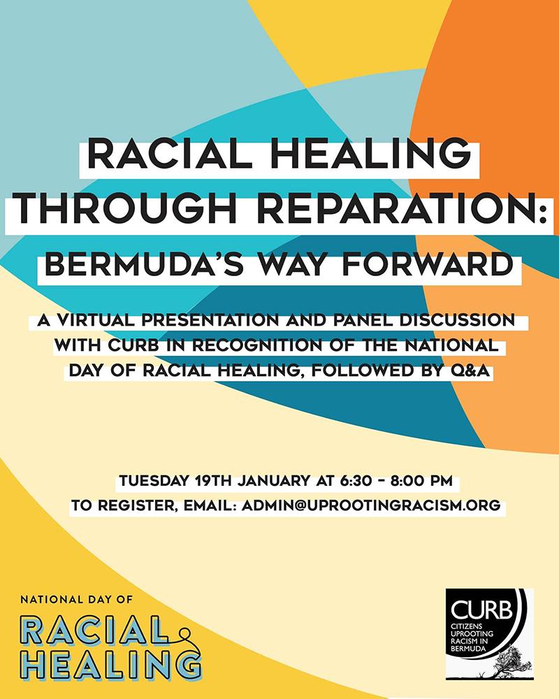 Racial Healing Webinar CURB Bermuda Jan 2021