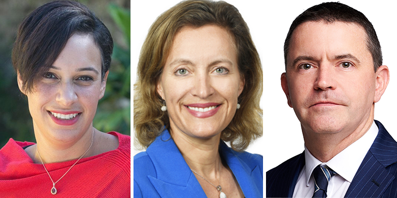 Sara Schroter, Vanessa Schrum, Keith Robinson Bermuda Jan 2021