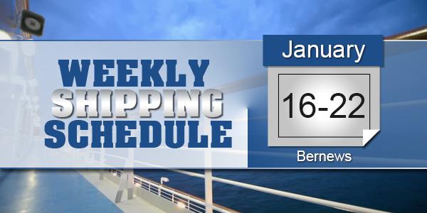 Weekly Shipping Schedule TC Jan 16-22 2021