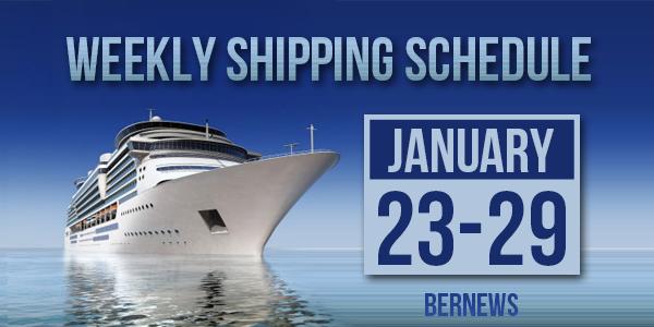 Weekly Shipping Schedule TC Jan 23 - 29 2021