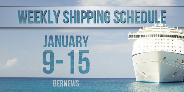 Weekly Shipping Schedule TC Jan 9 - 15 2021