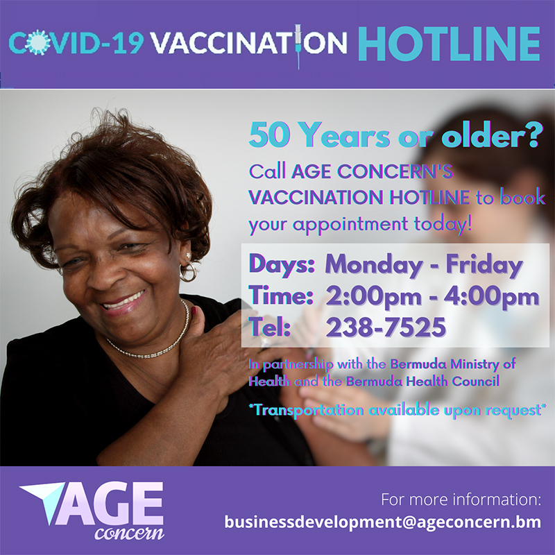 Age Concern Launches Vaccination Hotline Bermuda Feb 2021