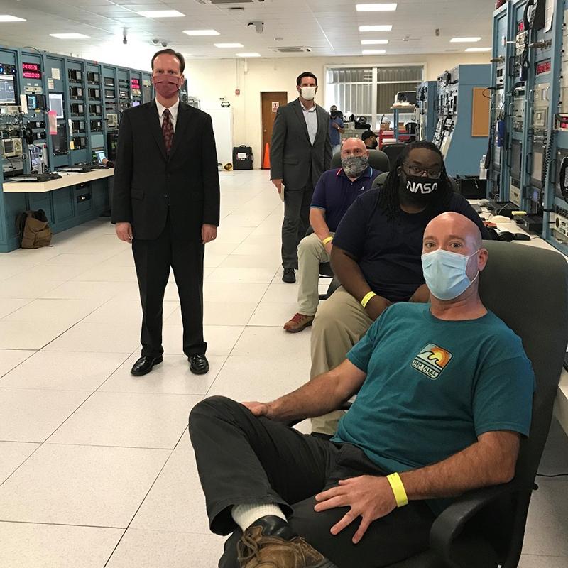 Alan Purcell Visits NASA Tracking Station  Bermuda Feb 2021 3