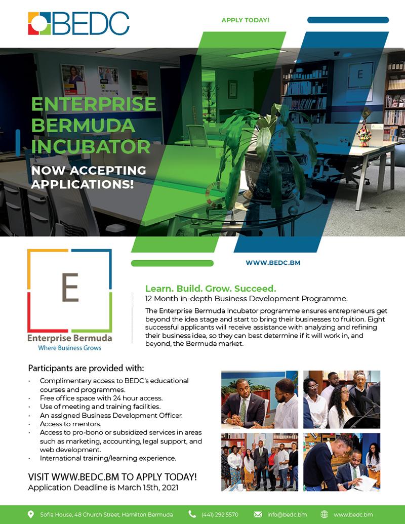 BEDC Enterprise Bermuda Incubator Feb 2021 1