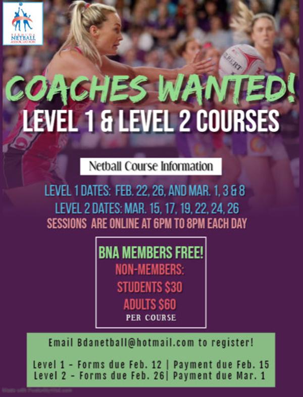 BNA Coaching Development Course Bermuda Feb 2021