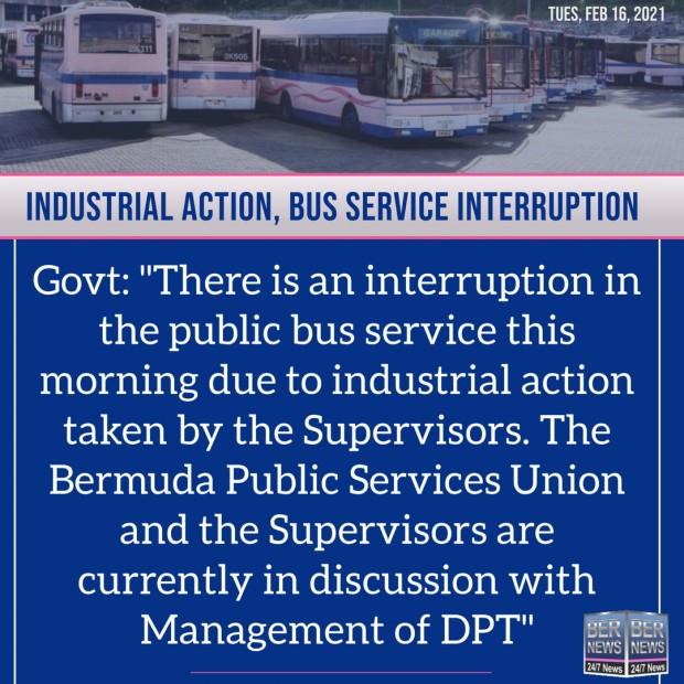 Bus service square bermuda feb 16 2021