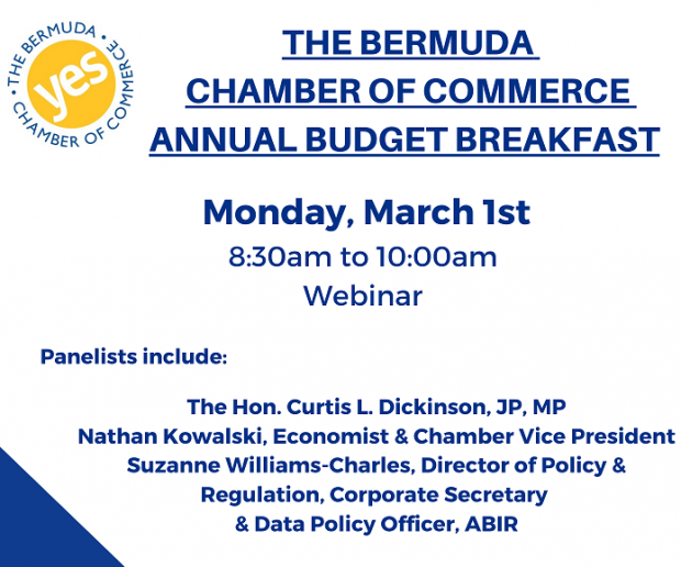 Chamber To Host Budget Breakfast On March 1