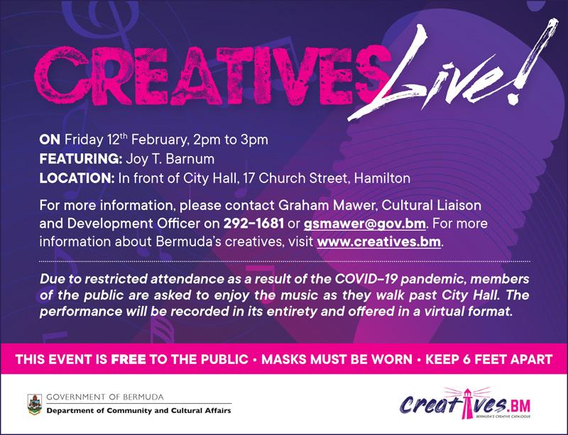 Creatives Live Bermuda Feb 2021
