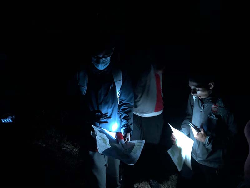 DofE Open Award Training & Night Navigation Bermuda Feb 2021 5