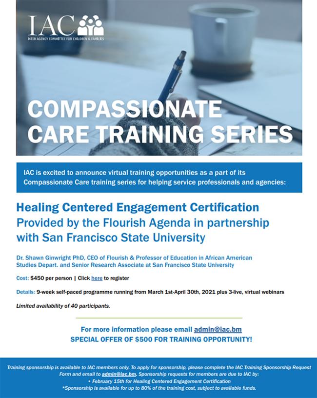 IAC To Offer Compassionate Care Training Series Bermuda Feb 2021