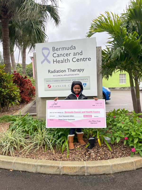 Jamie Madison Collection Donates $3K To BCHC Bermuda Feb 2021