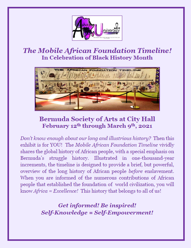 Mobile African Foundation Timeline Exhibit Bermuda Feb 2021 2