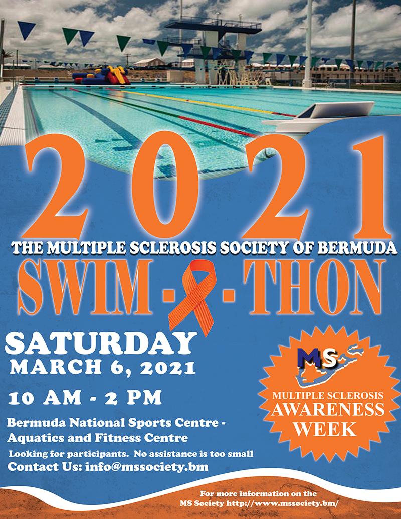Multiple Sclerosis Society Of Bermuda Swimathon Feb 2021