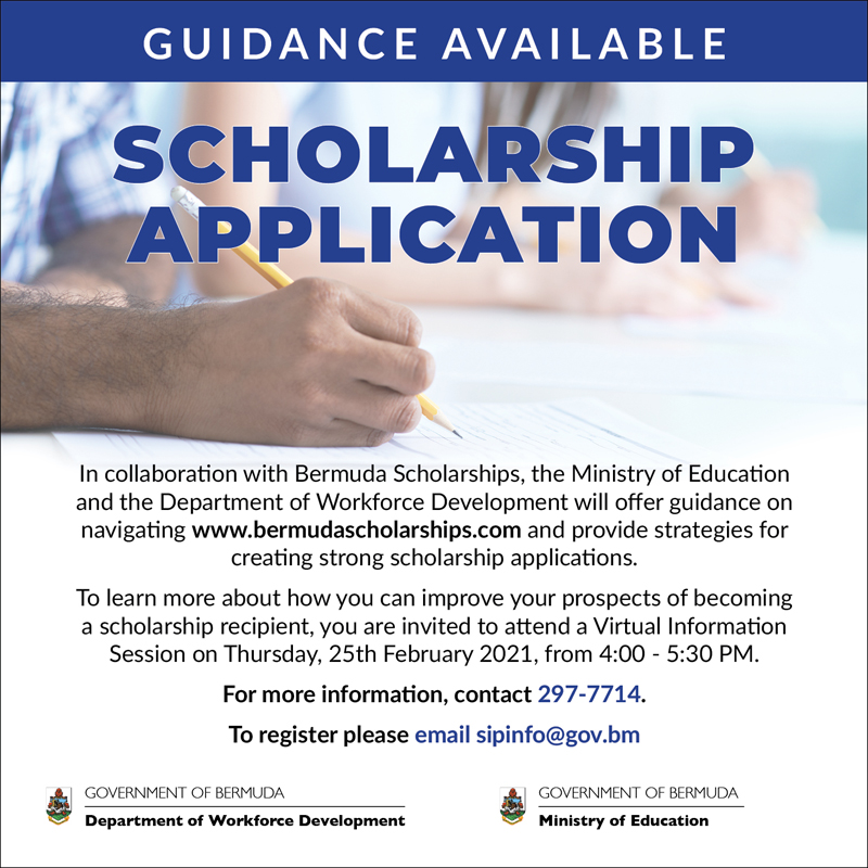 Scholarship Application Guidance Bermuda Feb 2021