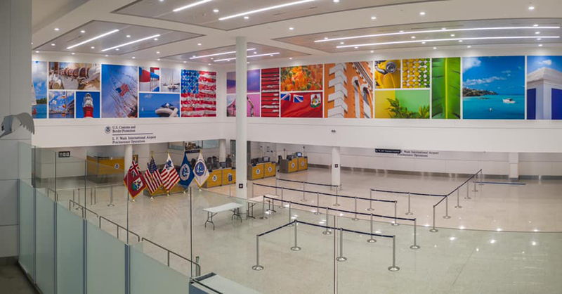 Skyport Check In Area In New Terminal Bermuda Feb 2021