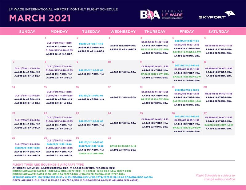 Skyport Release Flight Schedule For March