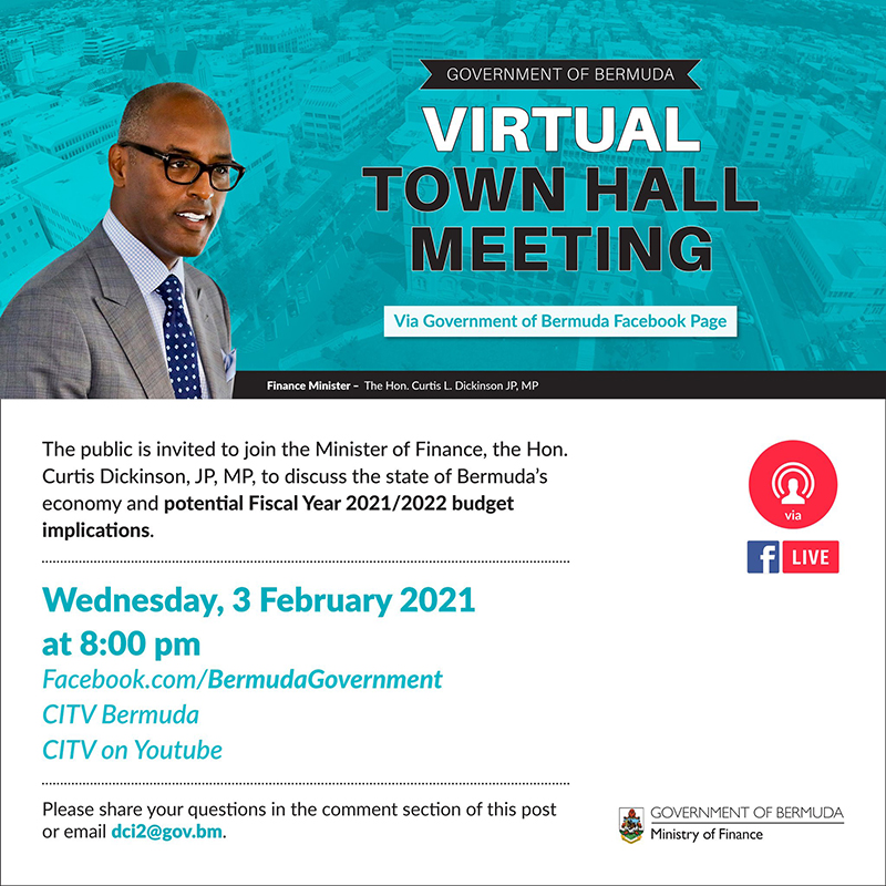 Virtual Town Hall Meeting Bermuda Feb 2021