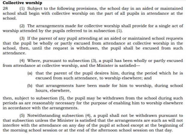 screenshot from bermuda The Education Act 1996