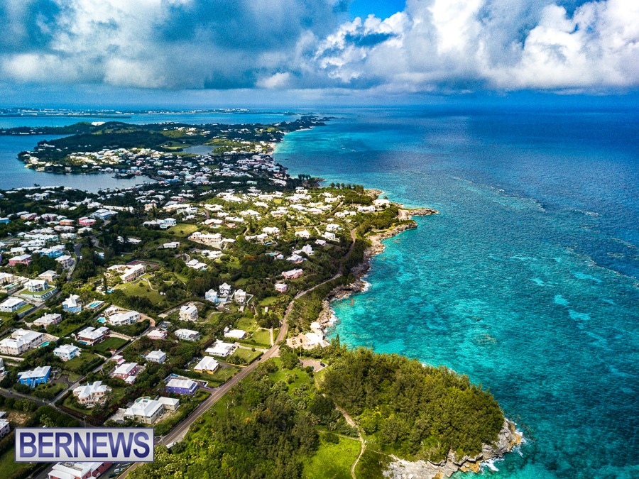 175 - A view down the gorgeous shoreline of Bermuda