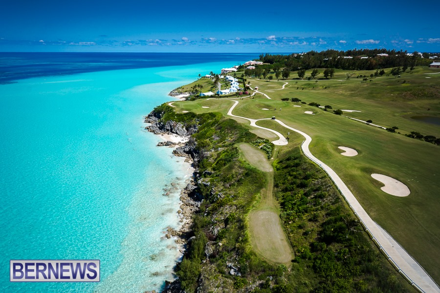 265 - One of Bermuda's most famous views, the 16th hole at Port Royal Golf Course