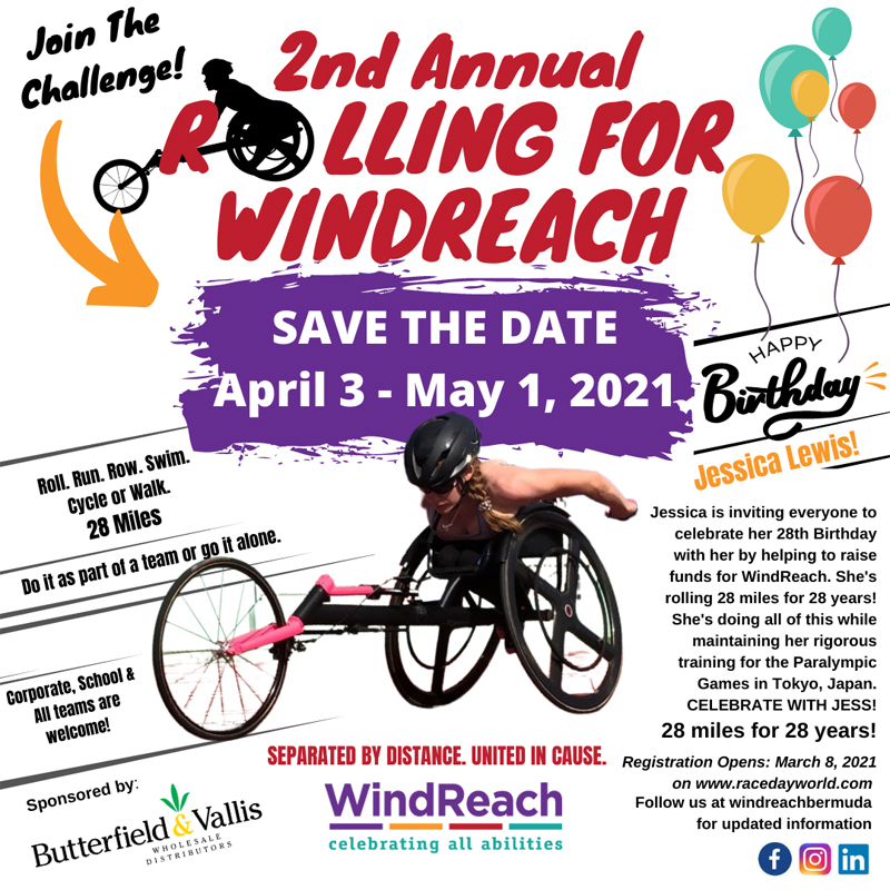 2nd Annual Rolling for WindReach Bermuda March 2021