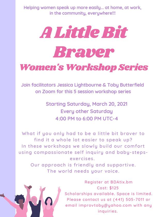A Little Bit Braver Womens Workshop Series Bermuda March 2021