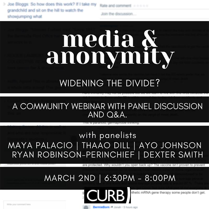 CURB Media & Anonymity Webinar Bermuda March 2021