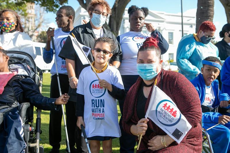 Dame Marjorie Bean Hope Academy Students Visit Cabinet Bermuda March 2021 (7)