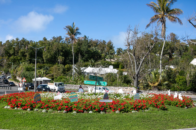 Easter Roundabout Displays Bermuda March 2021 (1)