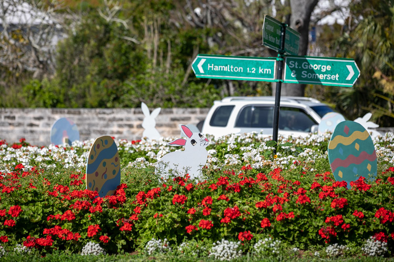 Easter Roundabout Displays Bermuda March 2021 (2)