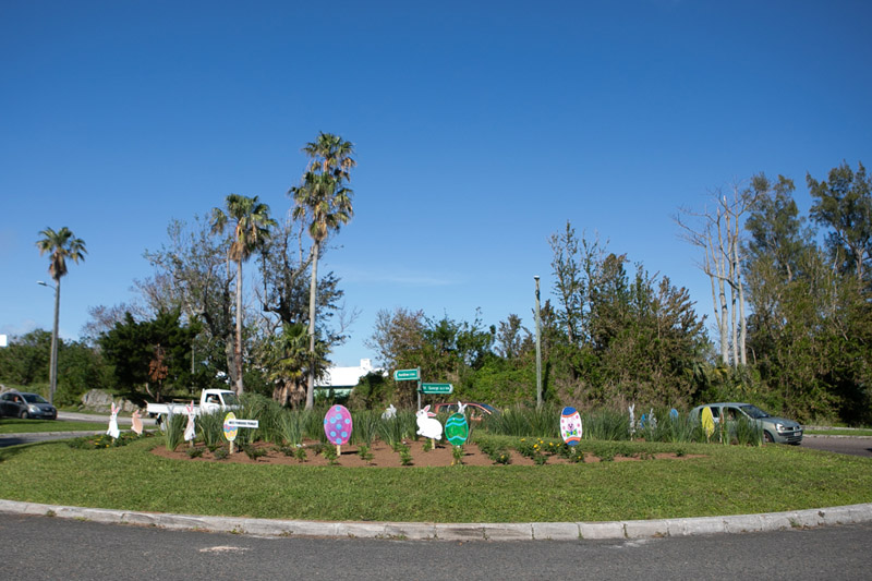 Easter Roundabout Displays Bermuda March 2021 (3)