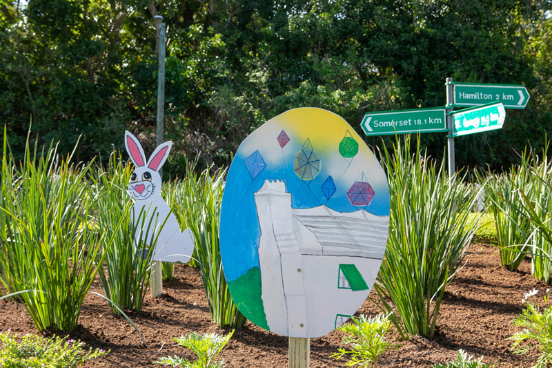 Easter Roundabout Displays Bermuda March 2021 (6)
