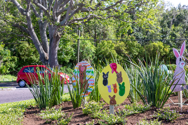 Easter Roundabout Displays Bermuda March 2021 (7)
