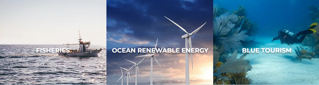 Fisheries Blue Tourism, and Ocean Renewable Energy