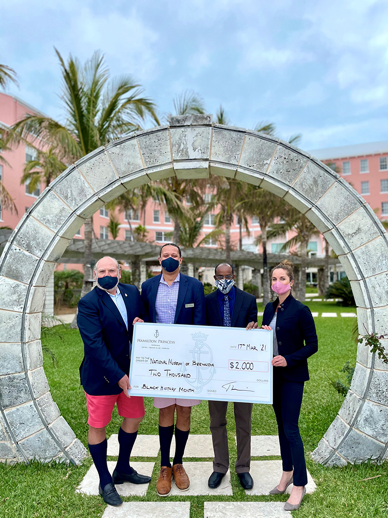 Hamilton Princess BHM Donation Bermuda March 2021