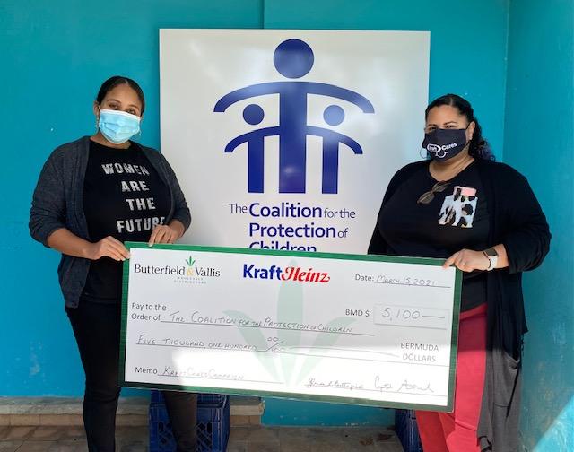 Kraft Cares Raises $5,100 For Coalition Bermuda March 2021