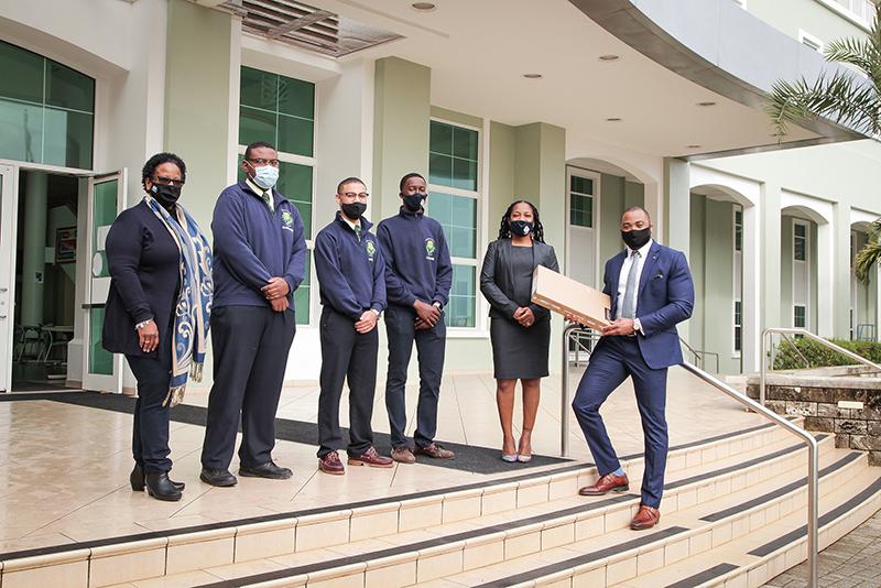 L&G Laptop Donation To Berkeley Institute Bermuda March 2021 1