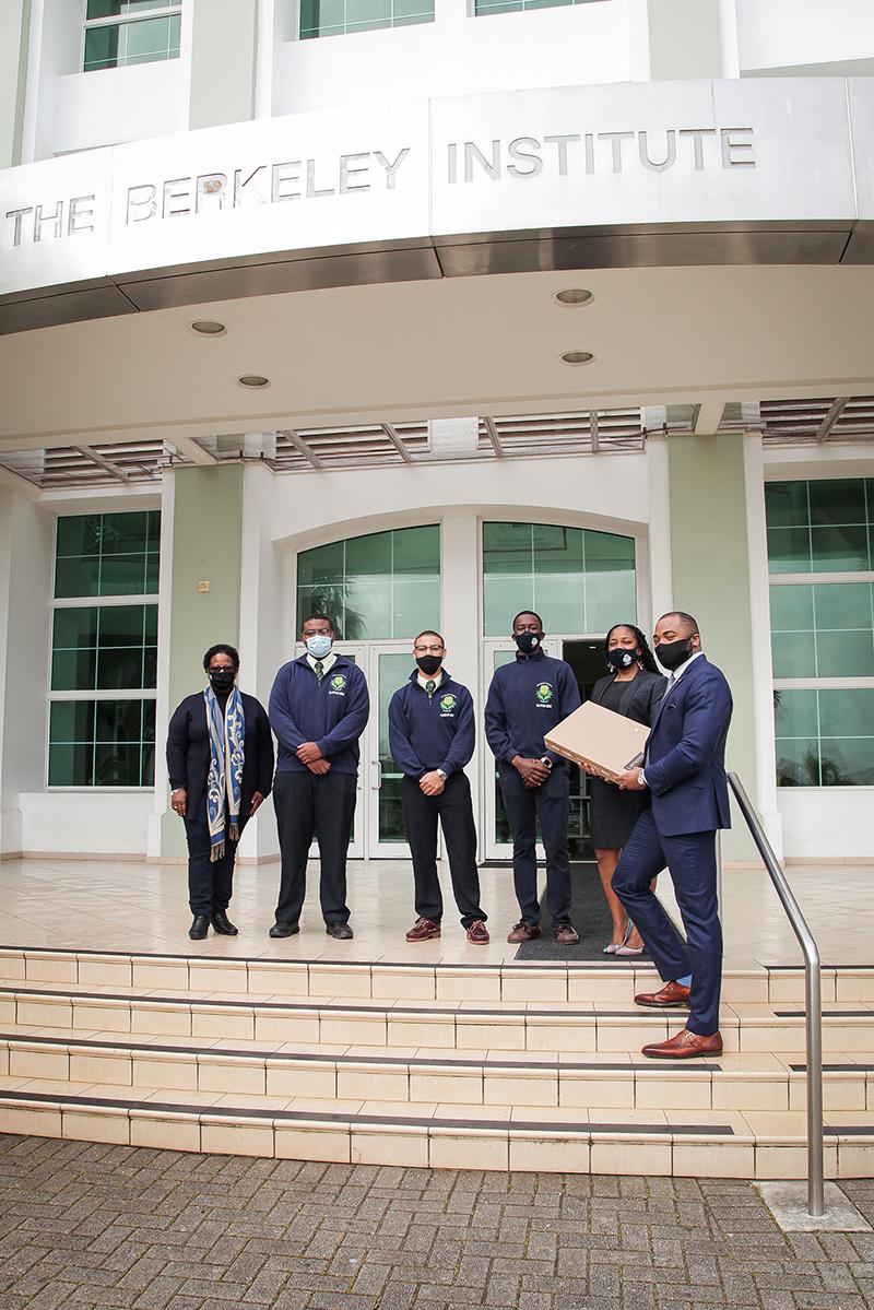 L&G Laptop Donation To Berkeley Institute Bermuda March 2021 2