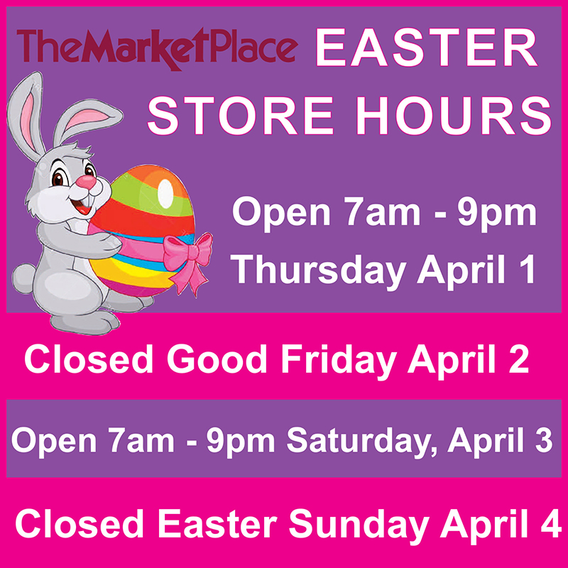 MarketPlace Good Friday & Easter Store Hours Bermuda March 2021