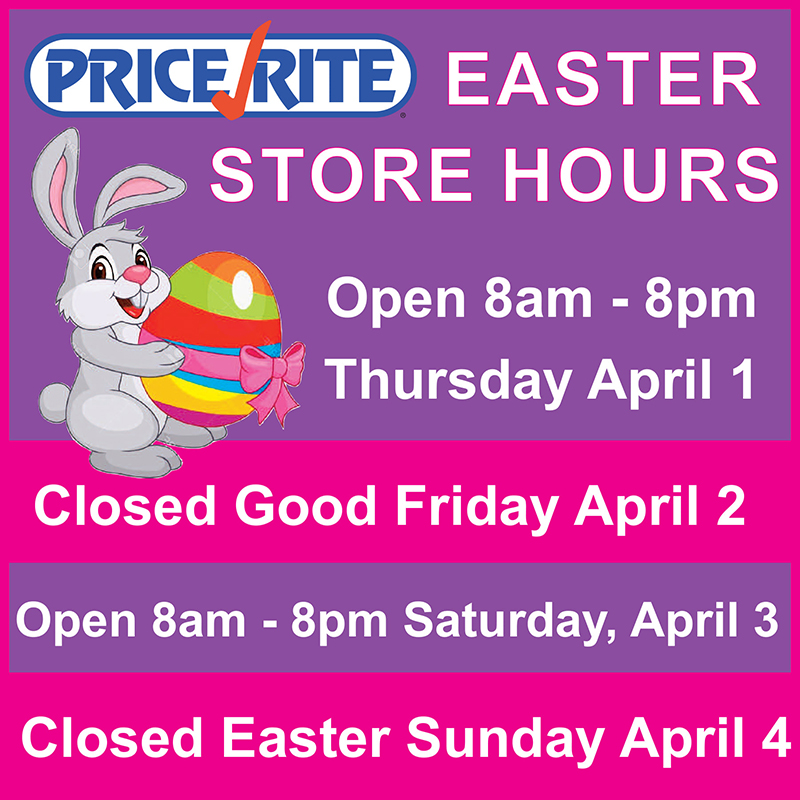 PriceRite Good Friday & Easter Store Hours Bermuda March 2021