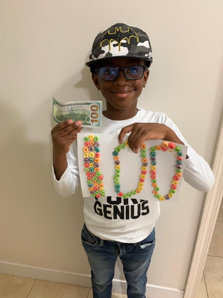 SGPS Celebrates 100 Days Of School   Bermuda March 2021 (18)