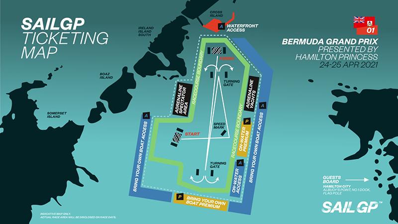 SailGP Ticketing Map Bermuda March 2021