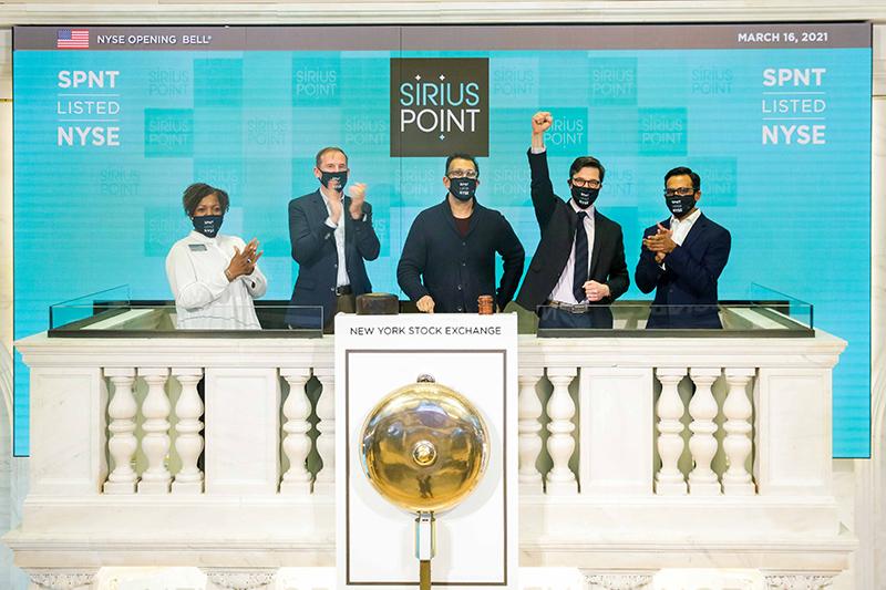 SiriusPoint Rings Opening Bell Of NYSE Bermuda March 2021 2