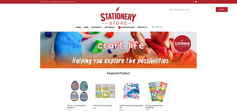 Stationery Store Launches Website Bermuda March 2021 2