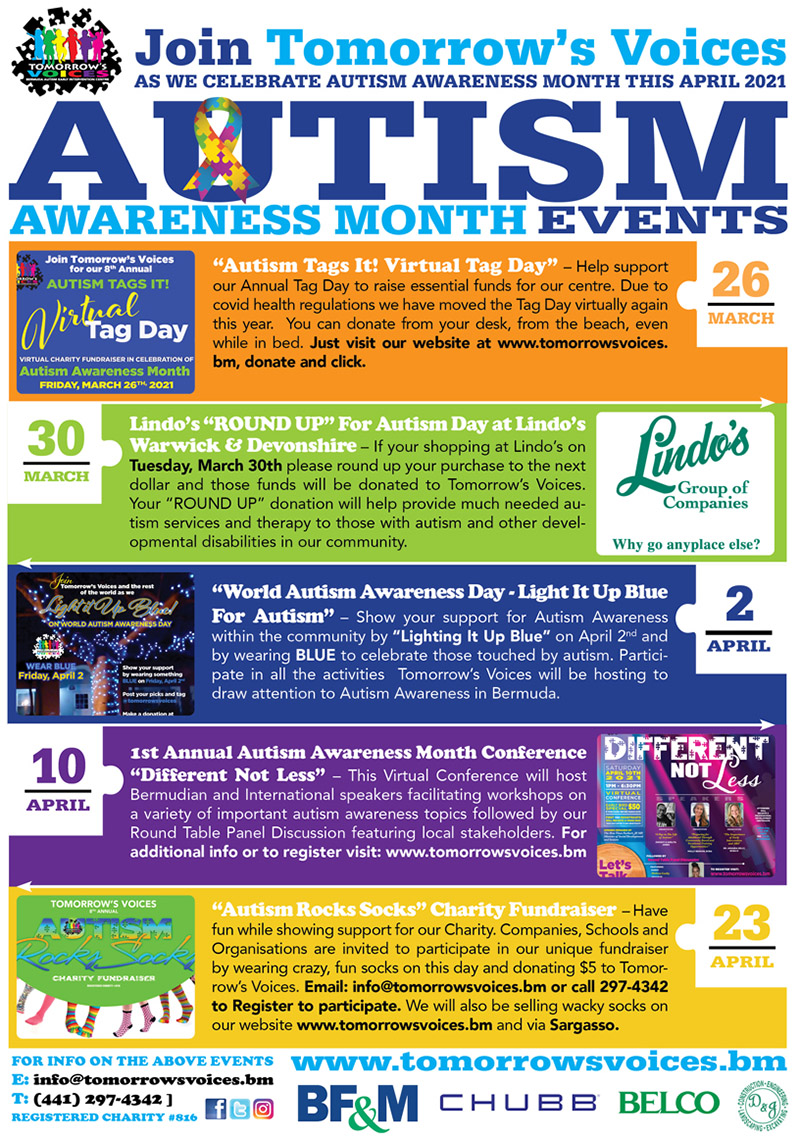 Tomorrow's Voices Autism Awareness Month March 2021