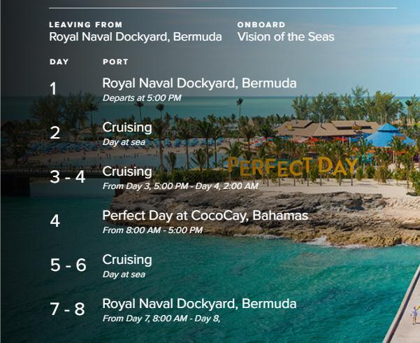 cruise screenshot rci march 2021