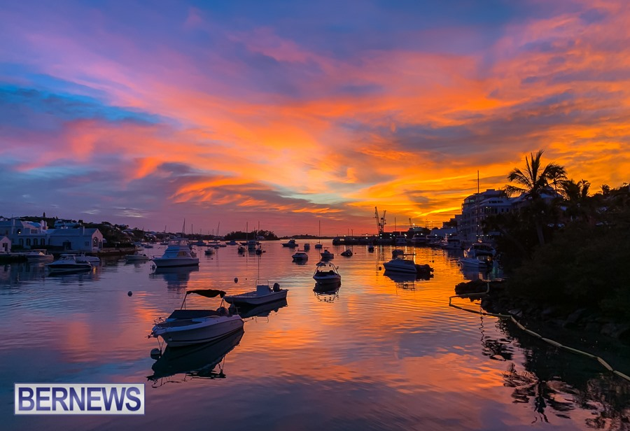 258 - One of the best sunset views on the Island, from Bermuda Underwater Exploration Institute (BUEI)